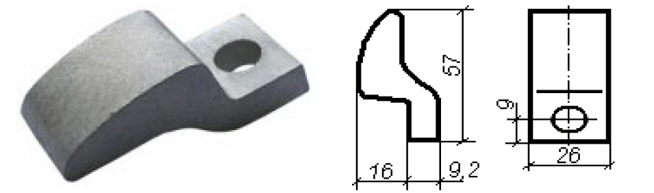 Contactor of KT 6040, KT 6043. Movable.