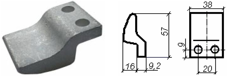 Contactor of KT 6050, KT 6053. Movable.